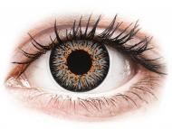 Sive kontaktne leče - brez dioptrije - ColourVUE Glamour Grey - brez dioptrije (2 leči)
