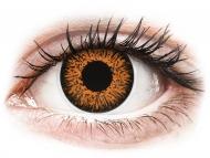 Rjave kontaktne leče - brez dioptrije - ColourVUE Glamour Honey - brez dioptrije (2 leči)
