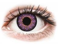 Vijolične kontaktne leče - brez dioptrije - ColourVUE Glamour Violet - brez dioptrije (2 leči)
