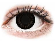 Barvne kontaktne leče brez dioptrije - ColourVUE BigEyes Dolly Black - brez dioptrije (2 leči)