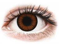 Barvne kontaktne leče brez dioptrije - ColourVUE BigEyes Pretty Hazel - brez dioptrije (2 leči)