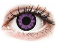 Vijolične kontaktne leče - brez dioptrije - ColourVUE BigEyes Ultra Violet - brez dioptrije (2 leči)