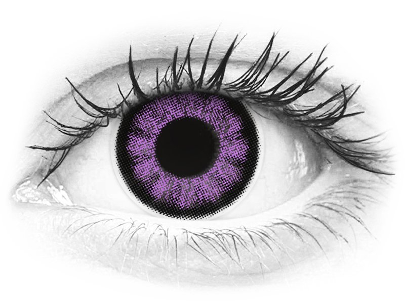 ColourVUE BigEyes Ultra Violet - brez dioptrije (2 leči) - ColourVUE BigEyes Ultra Violet - brez dioptrije (2 leči)