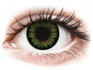 Barvne kontaktne leče brez dioptrije - ColourVUE BigEyes Party Green - brez dioptrije (2 leči)