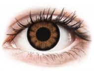 Barvne kontaktne leče brez dioptrije - ColourVUE BigEyes Sexy Brown - brez dioptrije (2 leči)