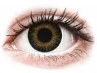 Barvne kontaktne leče brez dioptrije - ColourVUE 3 Tones Green - brez dioptrije (2 leči)