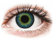Modre kontaktne leče - brez dioptrije - ColourVUE Fusion Yellow Blue - brez dioptrije (2 leči)