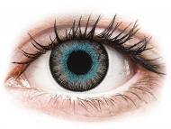 Modre kontaktne leče - brez dioptrije - ColourVUE Fusion Blue Gray - brez dioptrije (2 leči)