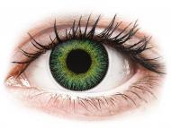 Zelene kontaktne leče - brez dioptrije - ColourVUE Fusion Green Yellow - brez dioptrije (2 leči)