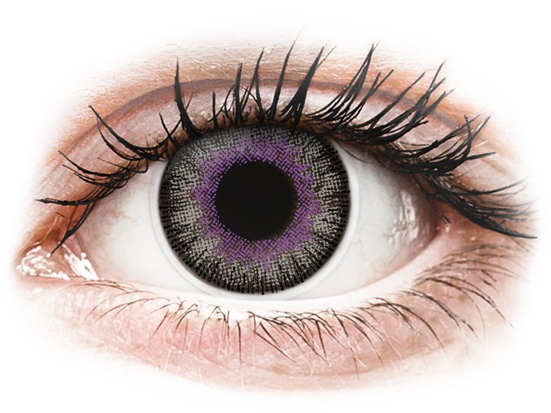 ColourVUE Fusion Violet Gray - brez dioptrije (2 leči)