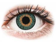 Oranžne kontaktne leče - brez dioptrije - Expressions Colors Aqua - brez dioptrije (1 leča)