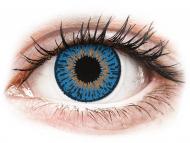 Kontaktne leče CooperVision - Expressions Colors Dark Blue - z dioptrijo (1 leča)