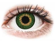 Barvne kontaktne leče z dioptrijo - Expressions Colors Green - z dioptrijo (1 leča)