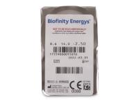 Biofinity Energys (3 leče) - Predogled blister embalaže