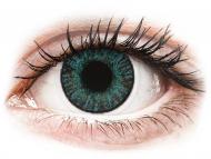 Barvne kontaktne leče z dioptrijo - FreshLook ColorBlends Brilliant Blue - z dioptrijo (2 leči)