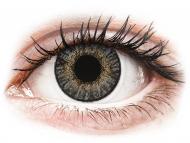 Barvne kontaktne leče z dioptrijo - FreshLook ColorBlends Grey - z dioptrijo (2 leči)
