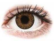 Barvne kontaktne leče z dioptrijo - FreshLook ColorBlends Honey - z dioptrijo (2 leči)