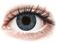 Barvne kontaktne leče z dioptrijo - FreshLook ColorBlends True Sapphire - z dioptrijo (2 leči)