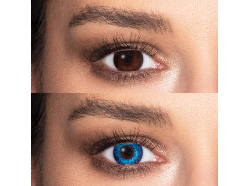 Air Optix Colors - Brilliant Blue - brez dioptrije (2 leči)