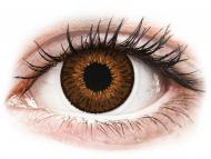 Barvne kontaktne leče z dioptrijo - Expressions Colors Brown - z dioptrijo (1 leča)