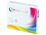 Rjave kontaktne leče - brez dioptrije - TopVue Color - Honey - brez dioptrije (2 leči)