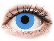 Posebne barvne leče - brez dioptrije - ColourVUE Crazy Lens - Sky Blue - dnevne leče brez dioptrije (2 leči)