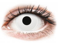 Bele kontaktne leče - brez dioptrije - ColourVUE Crazy Lens - Whiteout - dnevne leče brez dioptrije (2 leči)