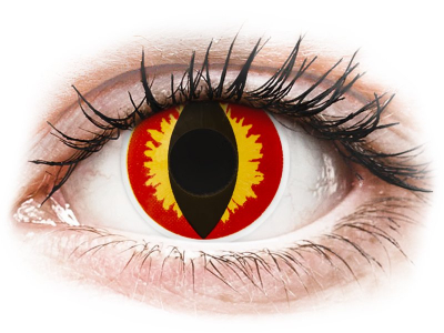ColourVUE Crazy Lens - Dragon Eyes - dnevne leče brez dioptrije (2 leči)