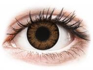 Barvne kontaktne leče z dioptrijo - ColourVue One Day TruBlends Hazel - z dioptrijo (10 leč)