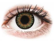 Barvne kontaktne leče z dioptrijo - ColourVue One Day TruBlends Green - z dioptrijo (10 leč)