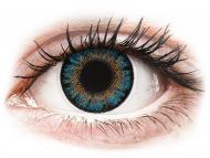 Barvne kontaktne leče z dioptrijo - ColourVue One Day TruBlends Blue - z dioptrijo (10 leč)