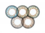 Modre kontaktne leče - brez dioptrije - ColourVue One Day TruBlends Rainbow 1 - brez dioptrije (10 leč)