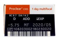 Proclear 1 Day multifocal (30leč) - Predogled lastnosti