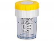 Škatlice za kontaktne leče - Vrtljiva škatlica - rumena