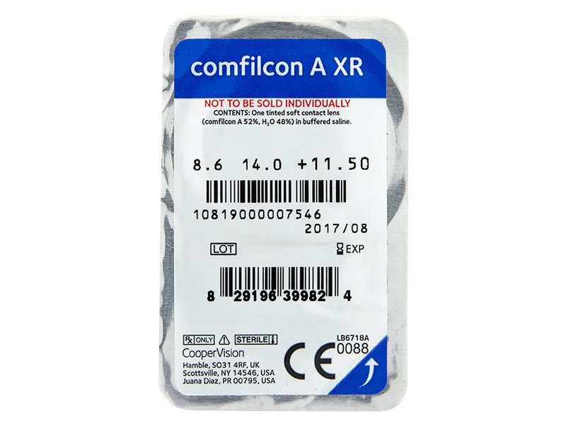 Biofinity XR (3 leče) - Predogled blister embalaže