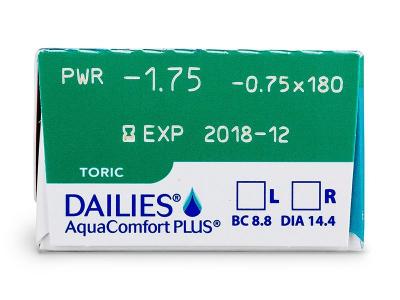 Predogled lastnosti - Dailies AquaComfort Plus Toric (30leč)