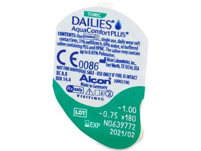 Predogled blister embalaže - Dailies AquaComfort Plus Toric (30leč)
