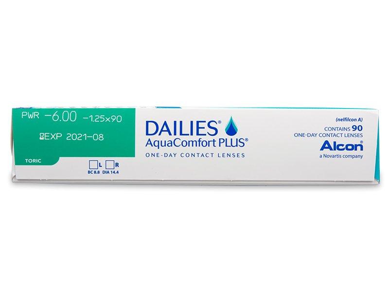 Predogled lastnosti - Dailies AquaComfort Plus Toric (90leč)