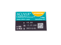 Acuvue Oasys 1-Day with HydraLuxe for Astigmatism (30 leč) - Predogled lastnosti