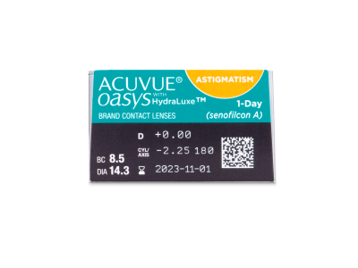 Predogled lastnosti - Acuvue Oasys 1-Day with HydraLuxe for Astigmatism (30 leč)