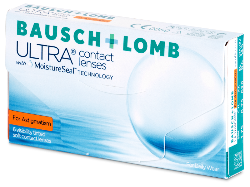 Torične kontaktne leče - Bausch + Lomb ULTRA for Astigmatism (6 leč)