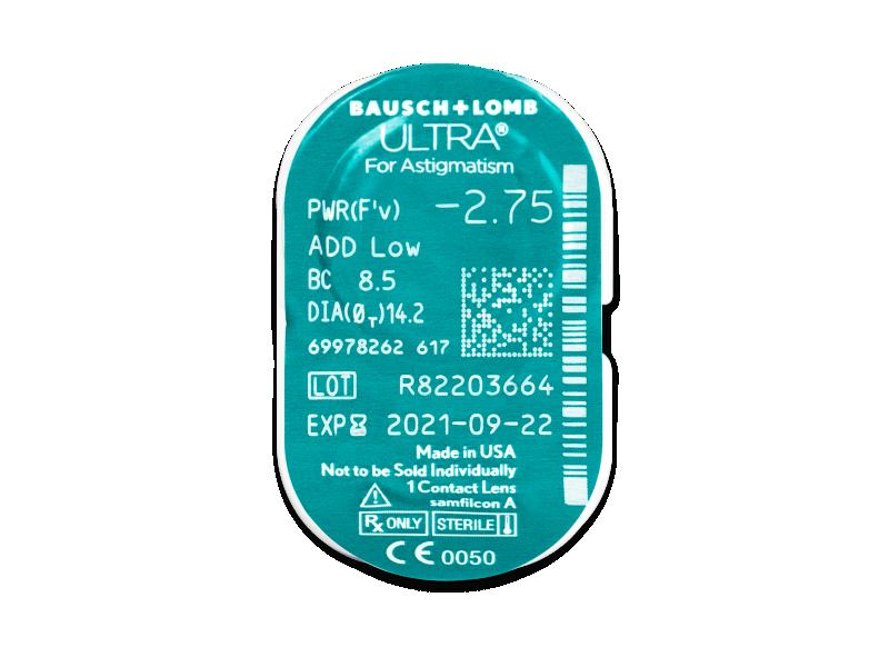 Predogled blister embalaže - Bausch + Lomb ULTRA for Astigmatism (6 leč)