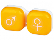 Škatlice za kontaktne leče - Škatlica man&woman - yellow