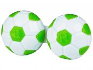 Škatlice za kontaktne leče - Škatlica Football - green