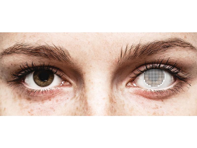 ColourVUE Crazy Lens - White Screen - brez dioptrije (2leči)