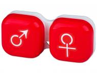 Škatlice za kontaktne leče - Škatlica man&woman - red