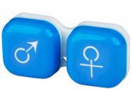 Škatlice za kontaktne leče - Škatlica man&woman - blue