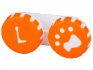 Škatlice za kontaktne leče - Škatlica Paw orange