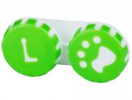Škatlice za kontaktne leče - Škatlica Paw green