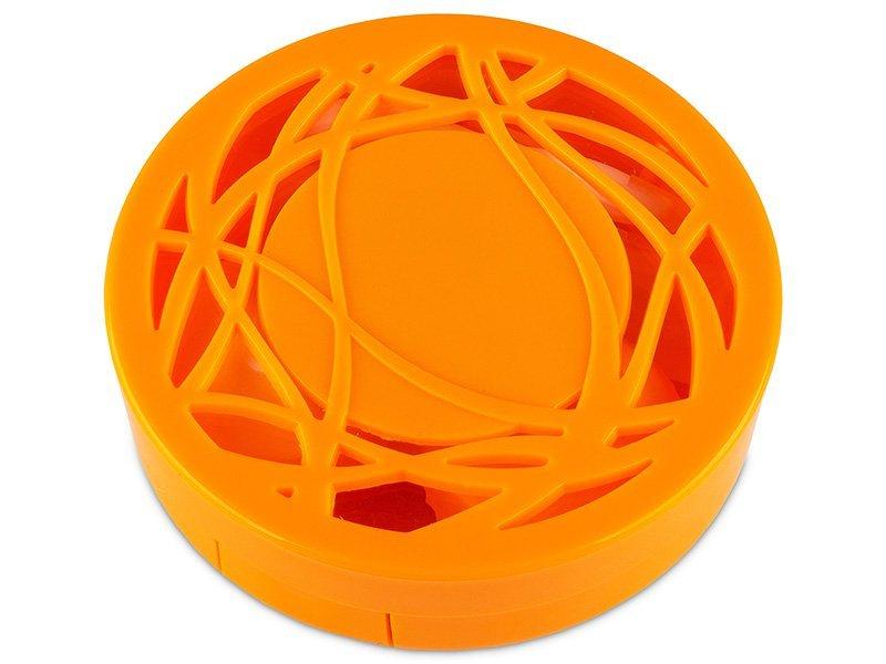 Škatlica z ogledalom - oranžna ornament  - Škatlica z ogledalom - oranžna ornament